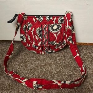 Small red, white and black crossbody.